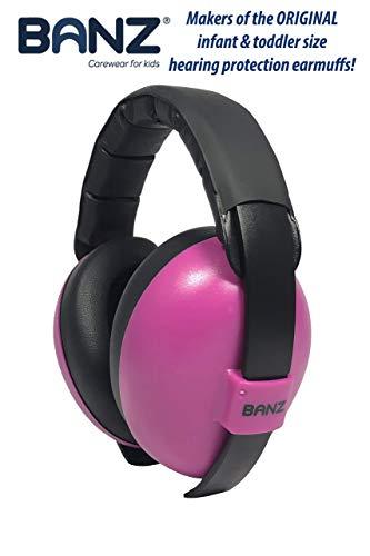 Banz BabyBanz GBB013 Baby-Gehörschutz, 0-2 Jahre, mit extra weichem Kopfbügel, Magenta