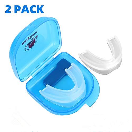 Anti-Schnarch-Geräte, Anti-Grinding Dental Night Guard, Schnarchentlastung und Stoppt Bruxismus-2-Pack, Mundschutz zum Schnarchen und Zähneknirschen, 2-in-1-Schnarchstopper-Mundstück für ruhige Nächte