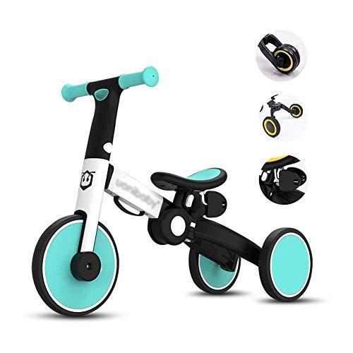 TQJ Cochecito de Bebe Ligero 3 En 1 Bicicleta De Equilibrio Triciclo For Niños 2-6 Años De Entrenamiento Primer Balance Vehículo De La Bici con El Pedal De Regalos For Chicos, Chicas Ligero