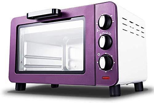 Mini estufa de horno y grill, horno con negro temporizador eléctrico, horno eléctrico pequeño para caravanas, pasteles caseros horneados pequeña, horno eléctrico de 15 litros, diseño de l.
