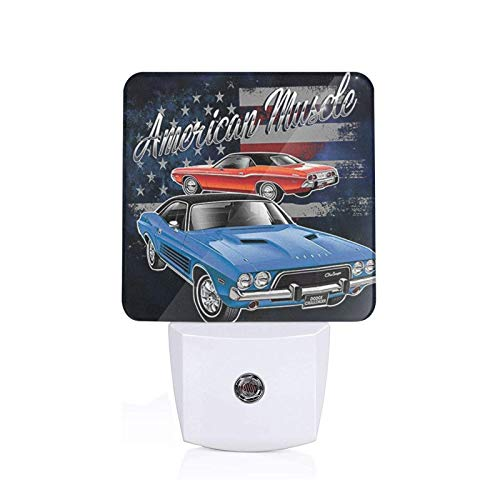 Haoguo Night Light American Muscle Dodge Led Strip Lights,Night Lights for Kids Energy Efficient Perfect for Living