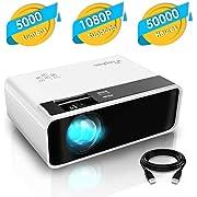 Videoprojecteur, ELEPHAS 5000 Lumens LED Mini Projecteur Portable Video Projecteur Soutien 1080P Rétroprojecteur HD Compatible Multimédia Idéal pour Les Films et Jeux Vidéo