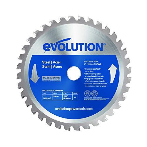 Evolution Power Tools Edelstahl Sägeblatt, 180BLADEST, 36 Zähne, 7 Inch
