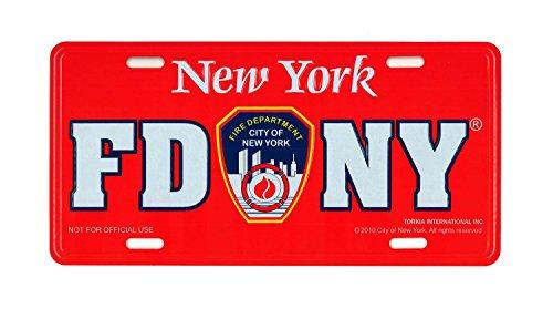 Artisan Owl FDNY Nummernschild, Feuerwehr von New York, Rot