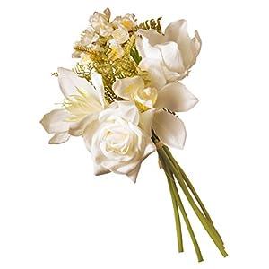 National Tree Company Artificial Silk Flowers | Cream Magnolia Bundle – 13 Inch