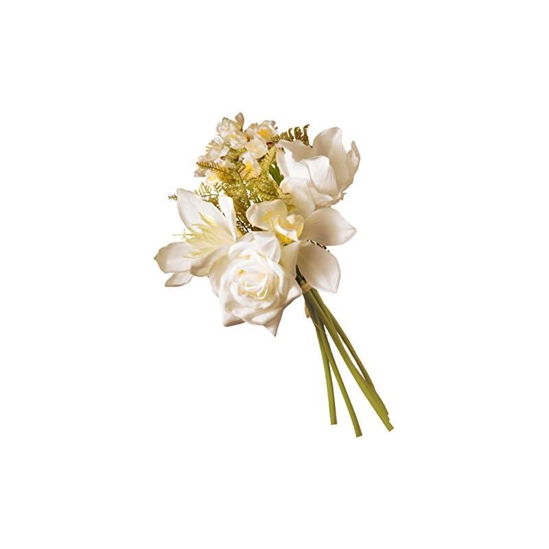 silk flower arrangements national tree company artificial silk flowers   cream magnolia bundle - 13 inch