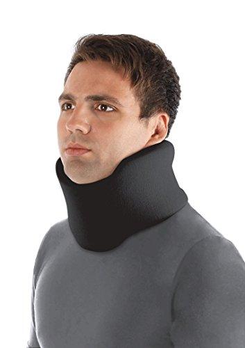 TOROS-GROUP Ergonomic Cervical Collar/Neck Support Brace / 100% - Cotton Liner (Large, Black)