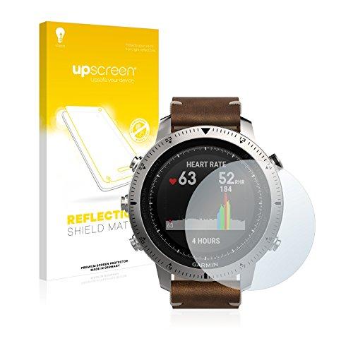 upscreen Entspiegelungs-Schutzfolie kompatibel mit Garmin Fenix Chronos – Anti-Reflex Bildschirmschutz-Folie Matt