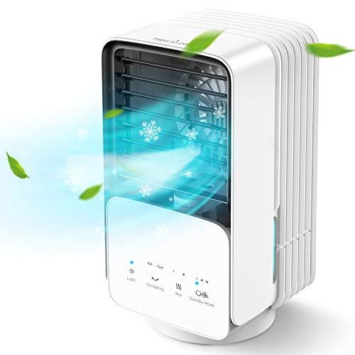 AYOGG Condizionatore Portatile, Raffreddatore d'aria con 3 velocità, 4 in 1 mini condizionatore, umidificatore a nebbia oscillante con 2 regolazioni, Adatto per casa e ufficio stanza