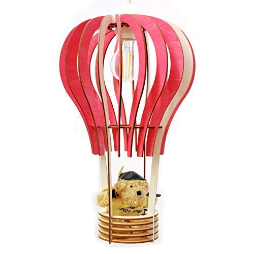 Kinderlampe Deckenlampe Ballon rosa Holz Kinderzimmer Leuchte Mädchen