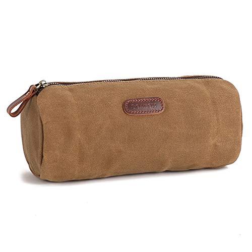 Mens Toiletry Bag Waterproof Canvas Leather Travel Toiletry Bag Dopp Kit for Men Shaving Bag for Travelling
