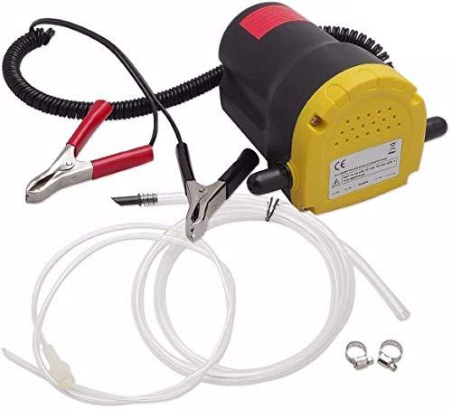 Poweka Bomba de Extracción de Aceite 60W 12V Bomba de Aceite de Aspiración para Automóviles/Motocicletas/Barcos/Caravanas/Camiones, Bomba de Transferencia de Aceite y Diesel