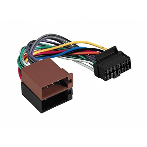 Sound-way ISO Aansluitkabel Connector, Kabel Adapter Autoradio, compatibel met Autoradio Aiwa 16 pins