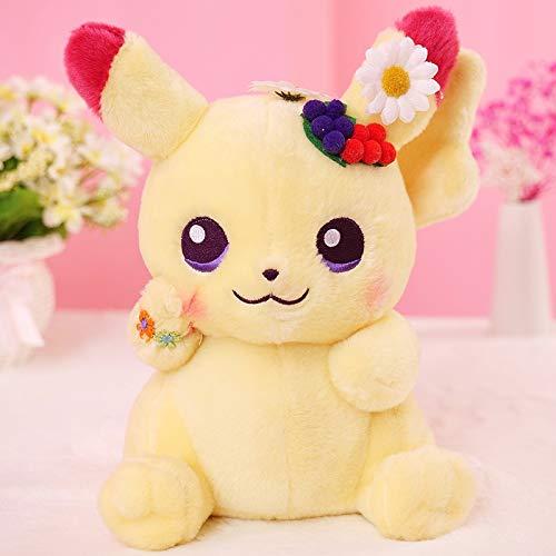 dingtian Juguete de Peluche 25cm Cute Pikachu Plush Toys Lovely Anime Plush Doll Regalo para Niños Kids Cartoon Peluche Pikachu Japan Anime Game Toys