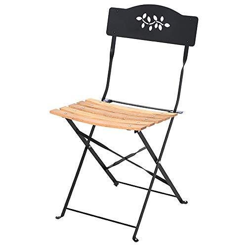 Folding chair Silla Plegable para Exteriores Silla de Comedor Balcón para el hogar Silla Plegable de Hierro Patio Exterior Interior Ocio Silla de Madera Maciza Silla Trasera Silla de Escritorio