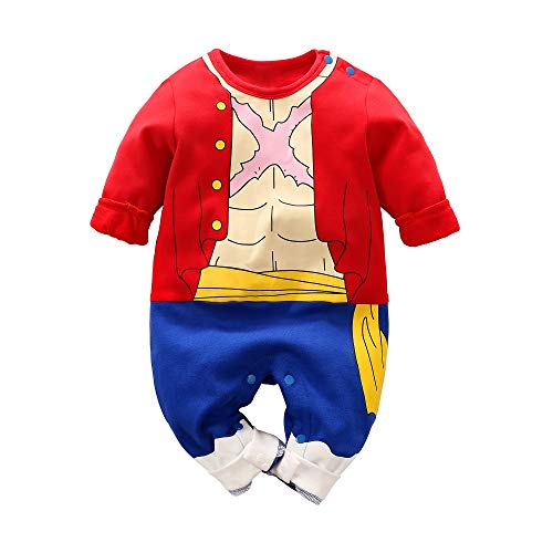 Beal Shopping Baby Clothes Cosplay Dress Anime Newborn Jumpsuits Baby Lovely Cartoon Romper Red