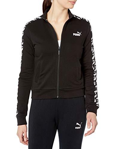 PUMA Women's Amplified Track Jacket, Black, Large
