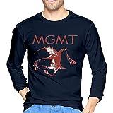 DANIELBURTON MGMT Unisex T-Shirts Round Neck Long Sleeve Navy T ShirtBlouse XXL