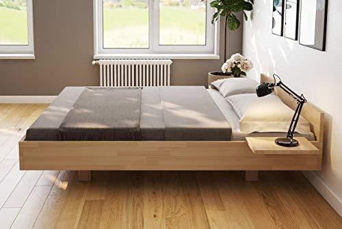 Doppelbett Schwebebett Buche schwebender Optik 180x200 - (4066)