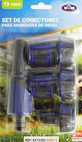 S&M Set de connecteurs 19 mm Premium, Noir et Bleu Cobalt