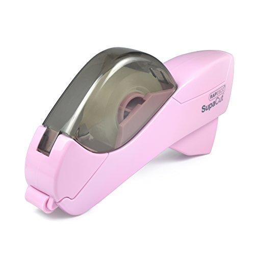 Rapesco 1441 SupaCut Dispenser per Nastro Adesivo, con 2 Rotoli di Nastro Adesivo - Colore: Rosa