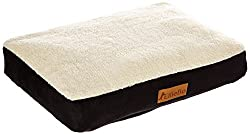 Thick Flat Sheep Skin Rectangle Dog Bed