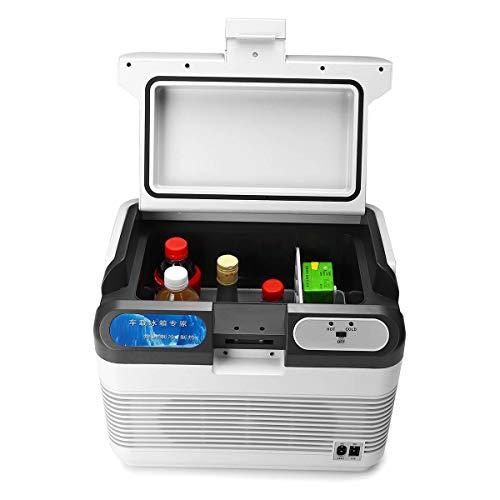 HUAHUA refrigerador 12L Auto refrigerador Coche Refrigerador 12V / 240V Camping Portátil Portátil Mini Frigorífico Compresor Coche Refrigerador y Calentador 10-65 Grados