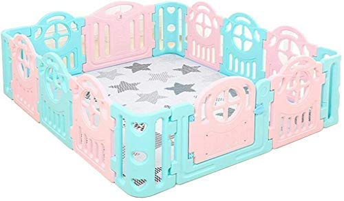 AWJ Baby playpen,Baby's Best Gift Large Children's Playpen Baby Crawl Toddler Fence Kid Safety Play Space Play Yard Home Indoor200x180cm