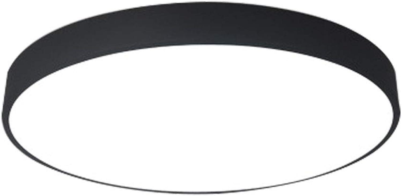 CHENSQ LED-Deckenleuchte, stufenloses Dimmen, Wohnzimmerlampe, Schlafzimmerflurbeleuchtung (schwarz)