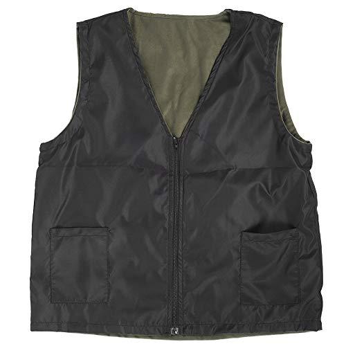 Elektrisch verwarmingsvest, heren Dames Verwarmd vest Vest Mouwloos USB Charge Warm lichaam Ademend Winterjas Kleding Buitensporten(XXL-Zwart)