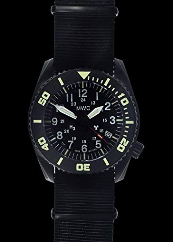 "MWC""Depthmaster"" 100atm / 3,280ft / 1000m Water Resistant Military Divers Watch in PVD Stainless Steel Case with GTLS and Helium Valve (Automatic)"