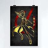 Juego Novela Sword Art Online Póster de Lienzo Comic Impreso Decoración Pintura Sala de Estar Niño Pared Moderna Decoración para el hogar 50x70cm (19.68x27.55 in) Q-966