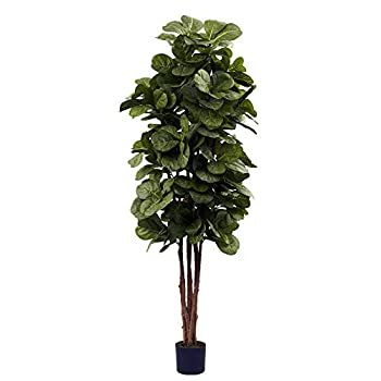 Nearly Natural 6ft Fiddle Leaf Fig Artificial Trees 72in Green