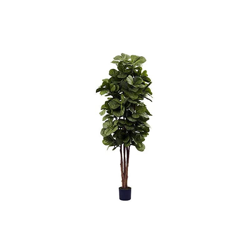 silk flower arrangements nearly natural 6ft fiddle leaf fig artificial trees, 72in, green