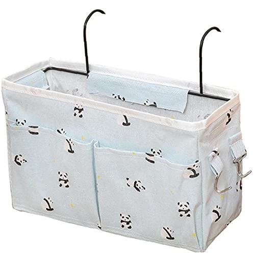 Fabric Storage Organizer Hanging Bag Home Bedroom Bedside Office Table Kitchen Hanging Basket with Hook