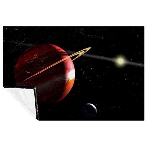 BestIdeas Planet Jupiter Space Prints - Manta suave y cálida para cama, sofá, picnic, camping, playa, 150 x 100 cm