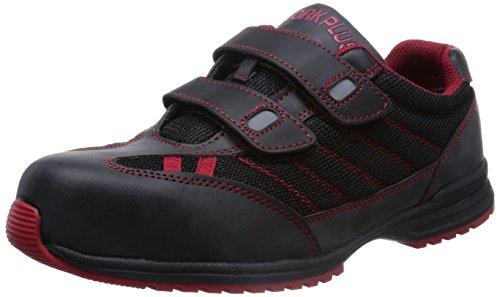 [ミドリ安全] 安全作業靴 JSAA認定 耐滑 マジックタイプ プロスニーカー WPT115 メンズ ブラック×レッド 30.0(30cm)