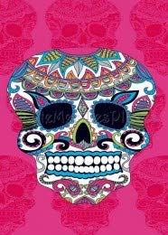 Regalitostv (Calavera Tatoo Rosa) Day of The Dead* Toalla Playa Grande 95 X 175 CM Tacto Terciopelo 100% Microfibra (300g) (Calavera Tatoo Rosa)