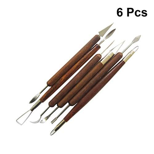 Healifty 6tlg Ton Keramik Skulptur Werkzeug Modellierwerkzeug Set Schnitzwerkzeuge Skulptur Messer für professionelle Anfänger