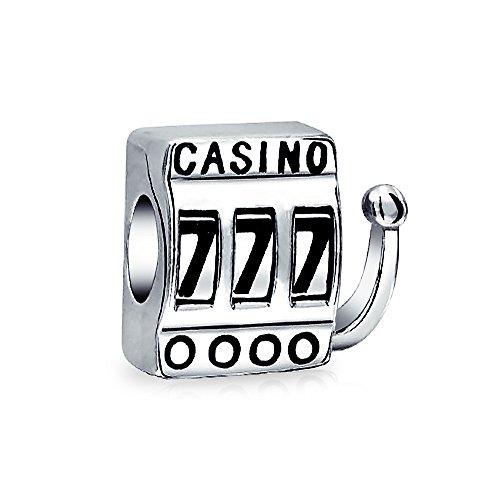 Las Vegas Viajes Suerte 777 Jackpot Casino Slot Machine Albalorio Para Mujer Pulsera De Plata Esterlina Encaja Europeo