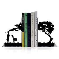 ブックエンド、ブックエンド、棚のブックエンド、棚のブックエンド、ブックエンド、重い本のブックエンド、メタルブックエンド1ペア(カラー:B、サイズ:1ペア)