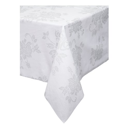 """Hoffmaster 236420 Linen-Like Color in Depth Tablecover, 82"""" Length x 82"""" Width, Silver Prestige (Case of 24)"""