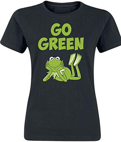 Die Muppets Go Green! Frauen T-Shirt schwarz M 100% Baumwolle Fan-Merch, Film, TV-Serien