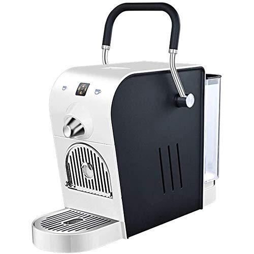 AJH Machine à café électrique, Automatique de Pression 20Bar ménages Design Compact 0.8L Réservoir deau 220 V 1400W Compatible avec Italico/Martello Capsule,Blanc