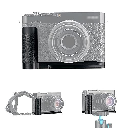 JJC Metall-Griff Schnellwechselplatte L-Halterung für Fujifilm X-E4 XE4 ersetzt Fuji MHG-XE4 Griff