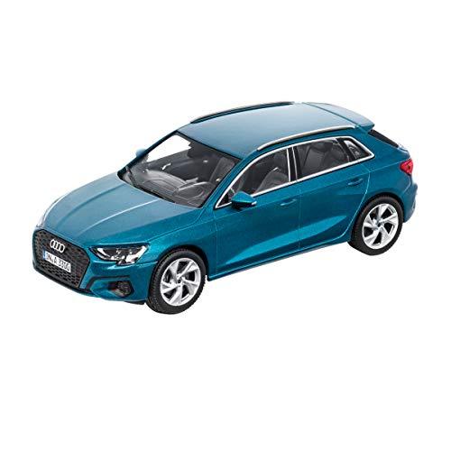 Audi 5011903031 Modellauto 1:43 Miniatur A3 Sportback Modell, blau