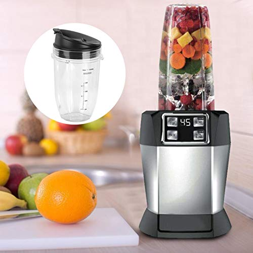 Guoshiy Jar Replacement Kit, Transparent Blender Replacement Kit, Durable Large Capacity for Blender NINJA 900W Home Use Kitchen Use(Small cup 18Oz)