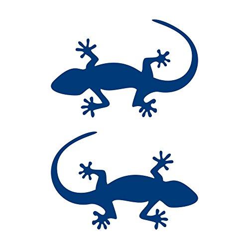 2 Stück Gecko Aufkleber Salamander Aufkleber Heckscheibe Autoaufkleber (BLAU)