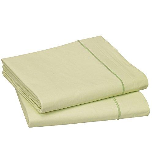 Blanc des Vosges Uni Percale Drap Coton Anis 280 x 320 cm