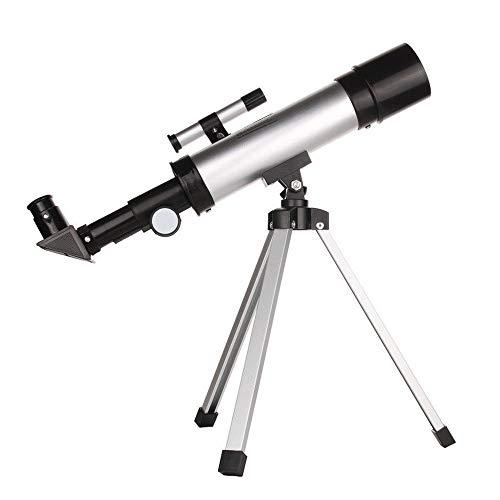 HEVÜY Teleskop, 360 mm Brennweite, Astronomisches Teleskop Fernrohr für Kinder und Einsteiger - Astronomie Set mit Stativ und Zubehör